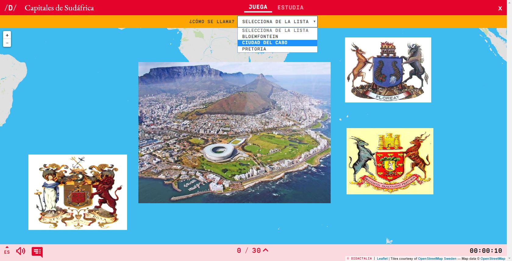 Capitais da África do Sul