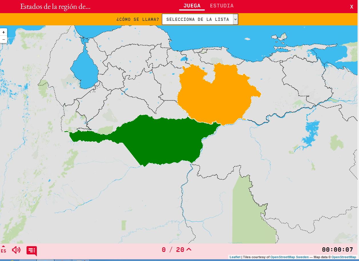 États de la région du Llanos du Venezuela