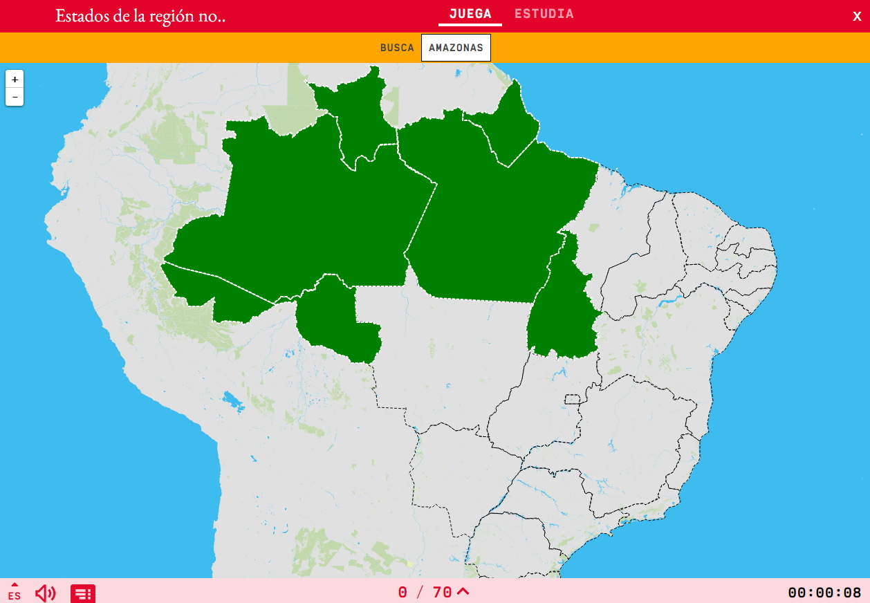 States of the region north of Brazil