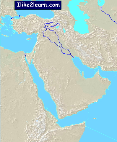 Bodies of water of Middle East. Ilike2learn