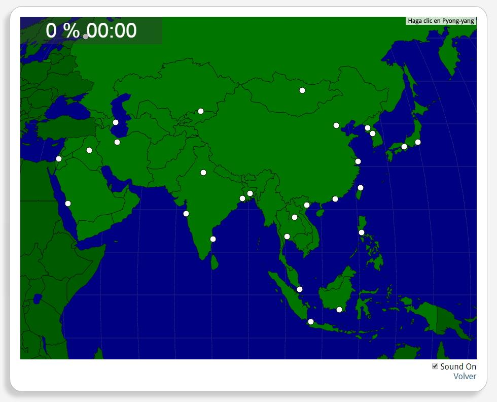 Asia: Cities. Seterra