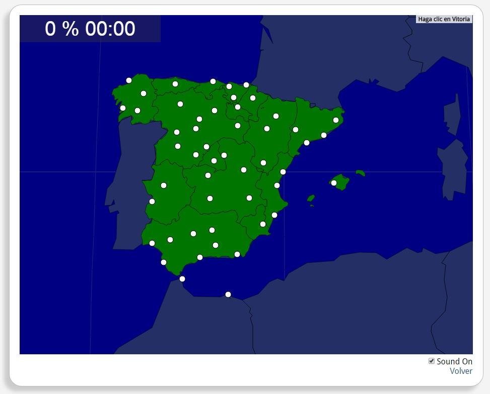 Espanha: Províncias, capitais. Seterra