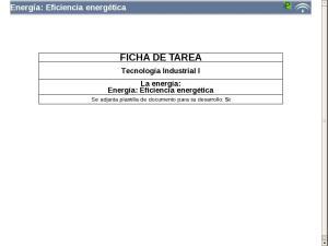 Energía: Eficiencia energética