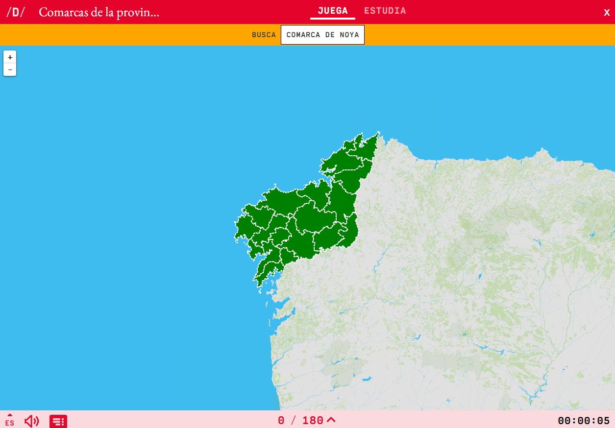 Regionen von Coruñaen
