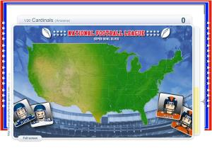 Super Bowl : Cities of National Football League. Geography map games