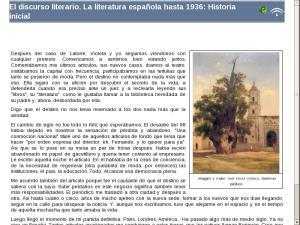 El discurso literario. La literatura española hasta 1936: Elementos comunes de la unidad