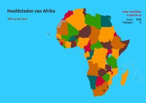 Hoofdsteden van Afrika. Topo Wereld