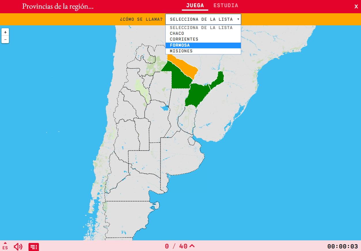Provincias de la región noreste de Argentina
