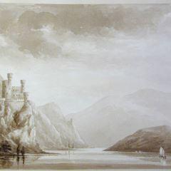 El Rin a su paso por el castillo de Rheinstein (Alemania)