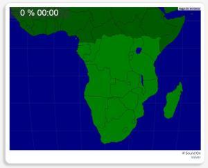 Afrique moitié Sud : les pays. Seterra