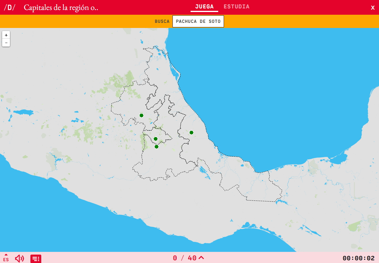 Capitals of the region eastern of Mexico