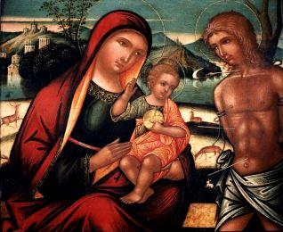 Virgen con el Niño y San Sebastián