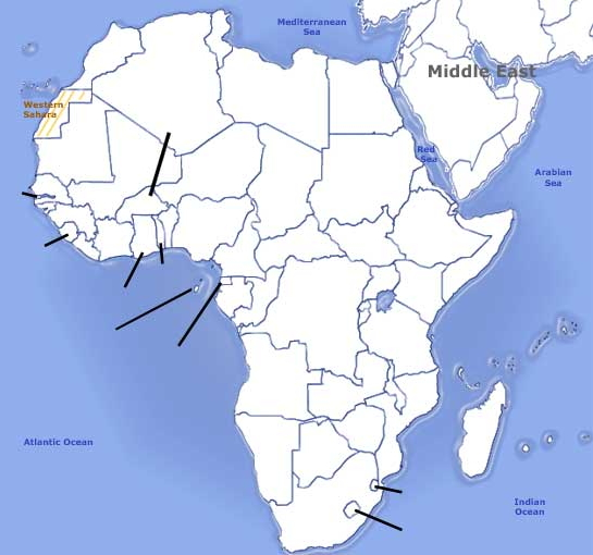 Capitals of Africa. Sporcle