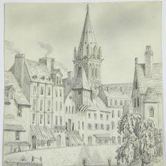 Vista de Caen, Francia