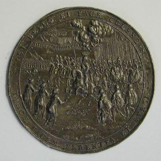 Prueba del reverso de la medalla conmemorativa de la victoria de Vladislao IV en la batalla de Smolensk