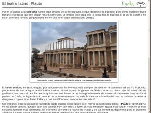 El teatro latino: Plauto