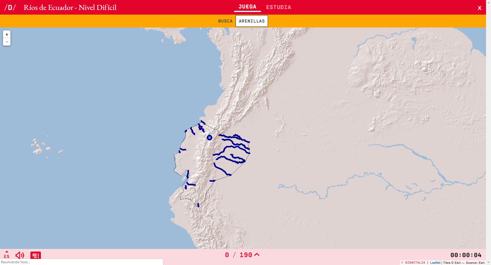 Fiumi dell'Ecuador - Livello difficile