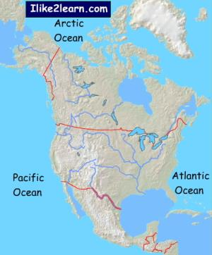 Physical features of North America. Ilike2learn