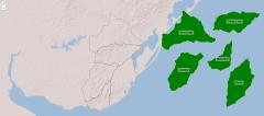 Départements de la région est de l'Uruguay