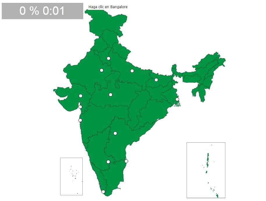 Ciudades de India. Seterra