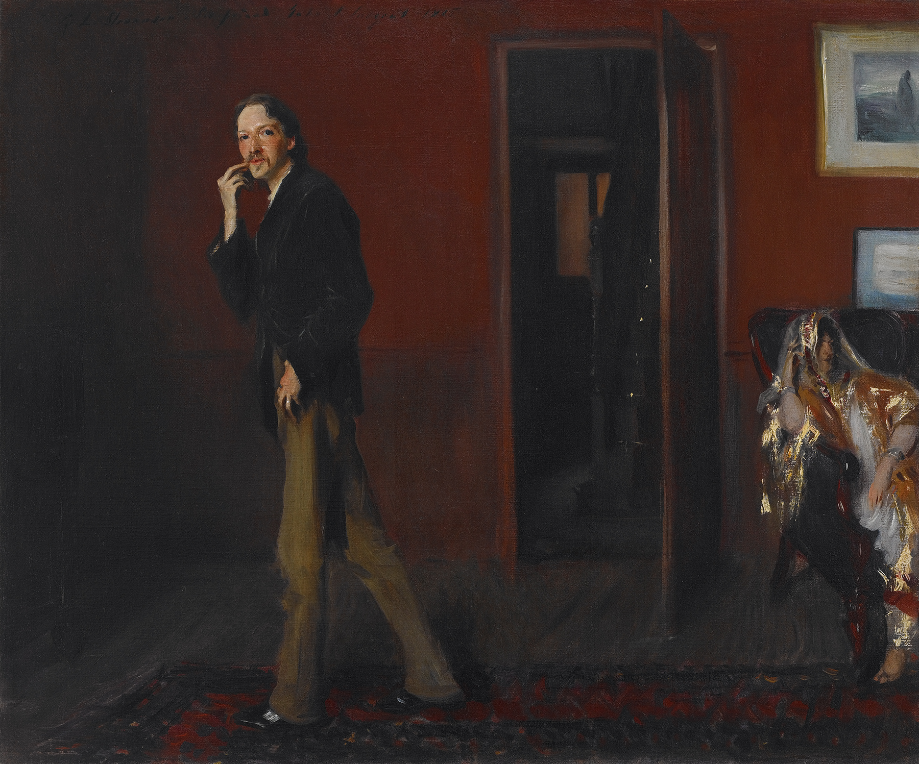 Robert Louis Stevenson y su esposa, 1885, John Sirgent Sargent