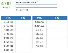 Biggest cities in Indonesia (JetPunk)