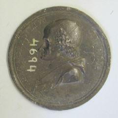 Prueba del anverso de la medalla del cardenal Gerdil