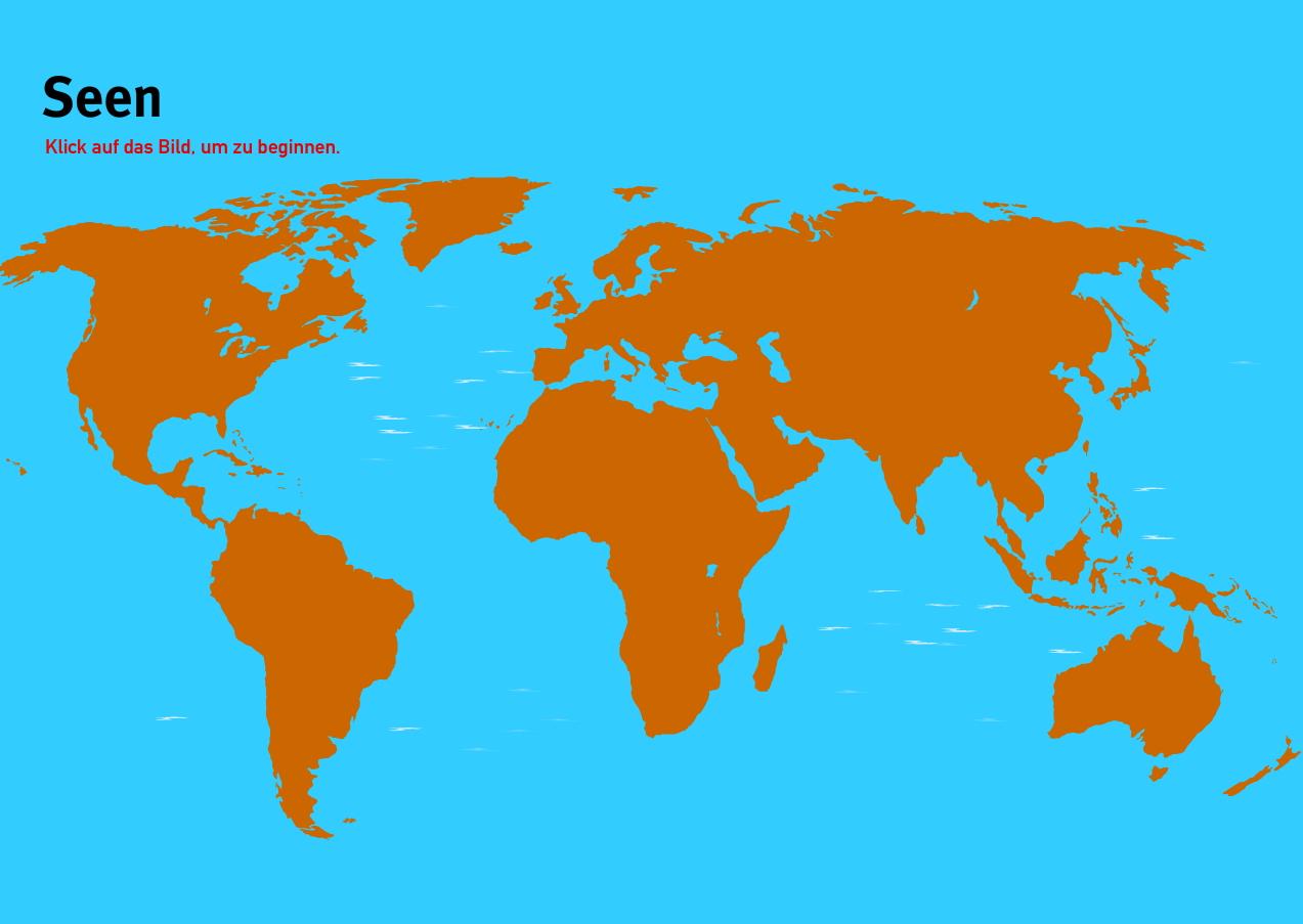 Seen der Welt. Welt-Quiz Geographie