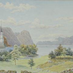 Vista de Söholt, en el Sunelvsfjord (Noruega)