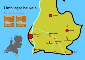 Limburgse heuvels. Topografie van Nederland