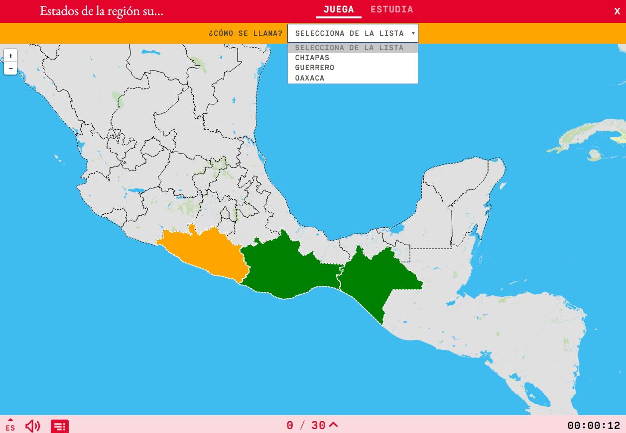 Estados da rexión suroeste de México
