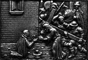 San Ignacio de Loyola ante Jesús con la cruz