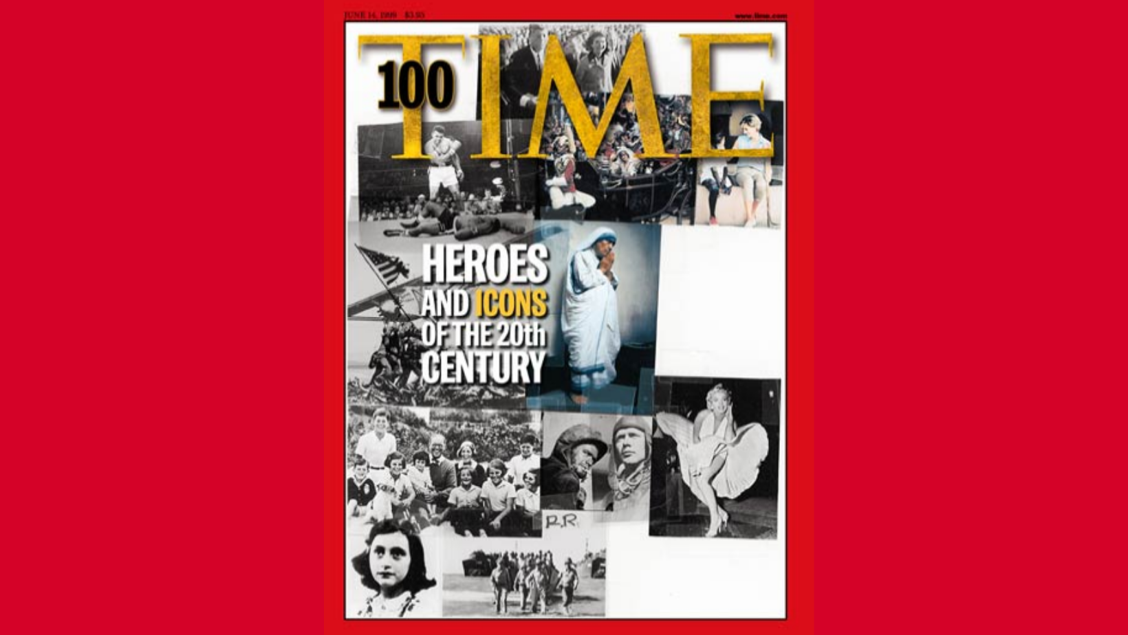 Most influential heroes and inspirers of the 20th century. Time 100