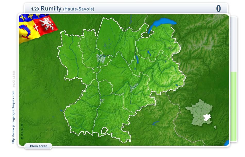 Villes de Rhône-Alpes. Jeux géographiques