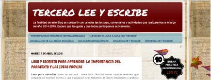 TERCERO LEE Y ESCRIBE