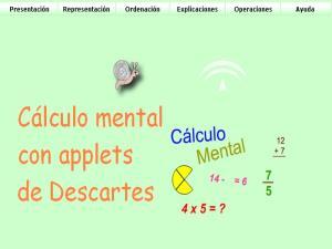 Cálculo mental con applets de Descartes
