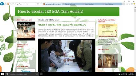 HUERTO ESCOLAR IES EGA (San Adrián)