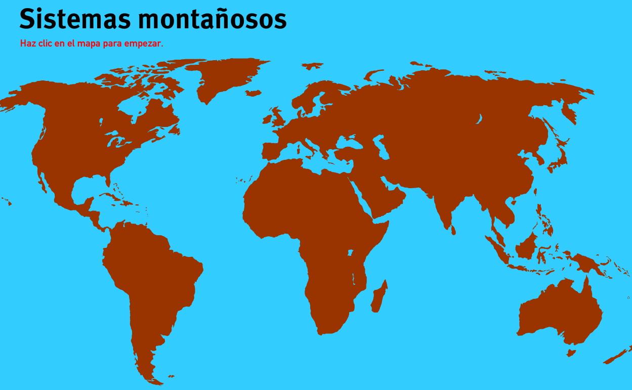 Sistemas montañosos del Mundo. Juegos de Geografía