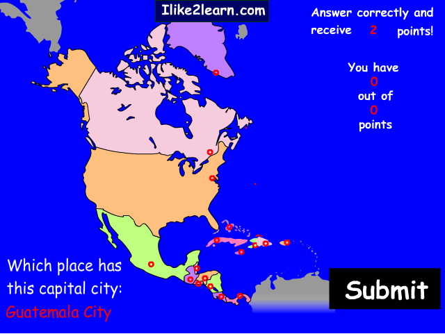 Capitals of North America. Ilike2learn