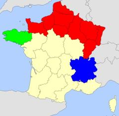 Regions of France map  (JetPunk)