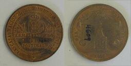 Medalla conmemorativa de la visita del Rey de Portugal a la Real Casa de la Moneda de Sevilla