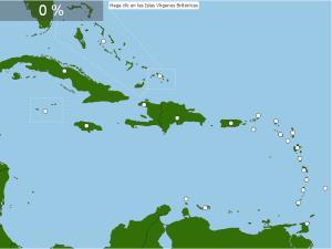Países de El Caribe. Seterra