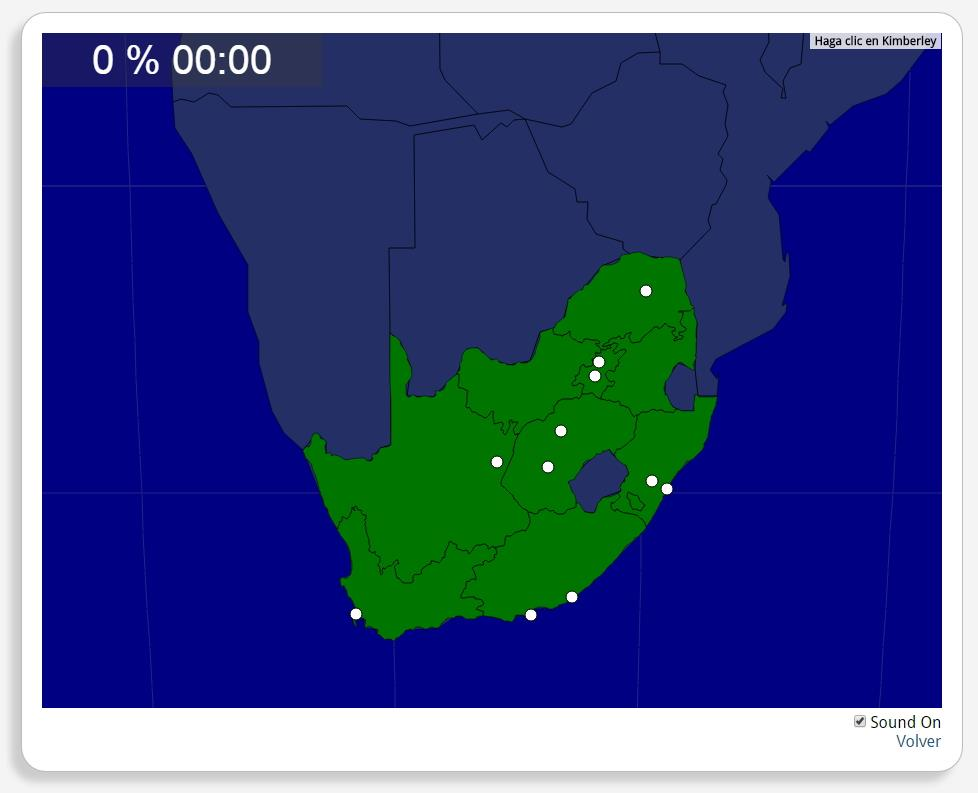 Südafrika: Städte. Seterra