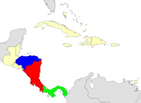 Geograhy quiz of Central America Central America map ...
