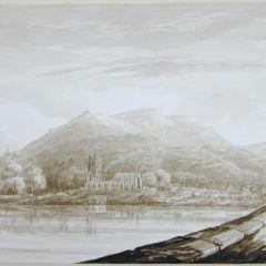 Vista de la ciudad de Dunkeld (Escocia)