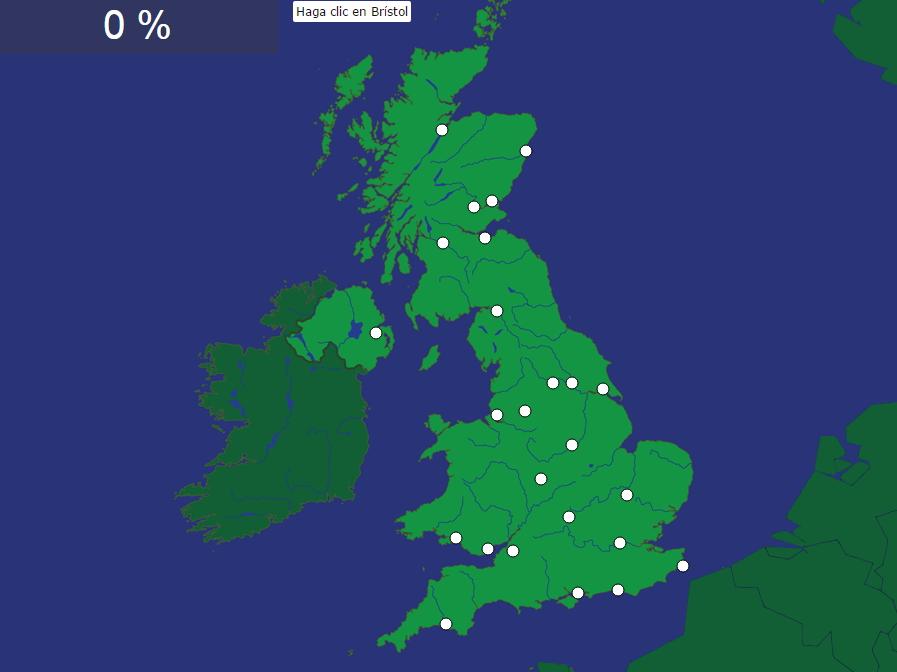 Ciudades de Gran Bretaña (difícil). Seterra