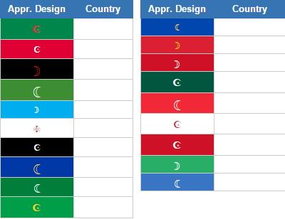 Flags with crescent moon (JetPunk)