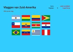 Vlaggen van Zuid-Amerika. Topo Wereld