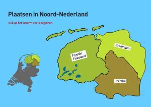 Plaatsen in Noord-Nederland. Topo VMBO