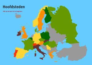 Hoofdsteden van Europa. Topo VMBO